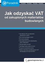 :: Jak odzyskać VAT na zakupione materiały budowlane - pobierz e-book ::