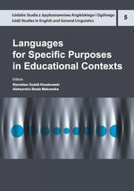 Languages for Specific Purposes in Educational Contexts – ebook
