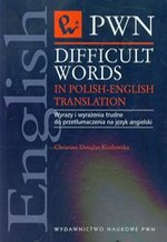 Difficult words in Polish-english translation – książka