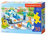 Puzzle konturowe Way to School 30 – gra