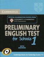 Cambridge Preliminary English Test for Schools 1 Student's Book with Answers – książka