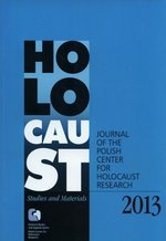 Holocaust Studies and Materials /Volume 2013/ – książka