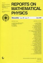 Reports on Mathematical Physics 63/3 2009 Kraj – książka