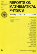 Reports on Mathematical Physics 79/3 2009 – książka