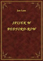 Spisek W Bedford-Row – ebook