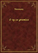 O ty co grzmisz – ebook