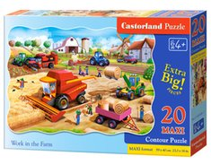 : Puzzle Maxi konturowe Work in the Farm 20 – gra