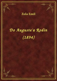 ebooki: Do Auguste'a Rodin (1894) – ebook