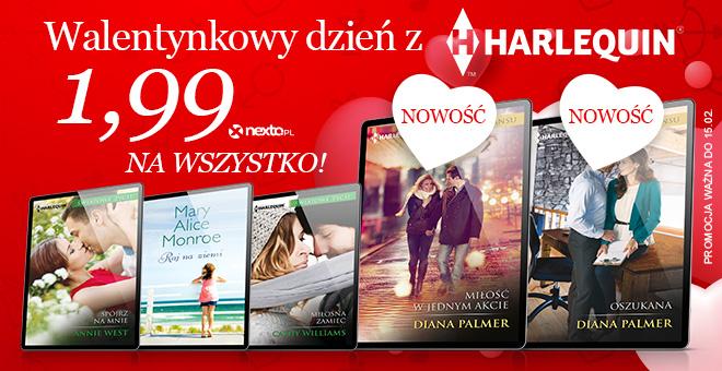 Walentynki z Harlequin - wszystkie eKsiążki po 1.99zł (ponad 1300 tytułów).